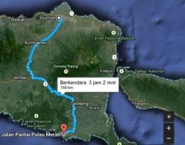 peta rute pulau merah